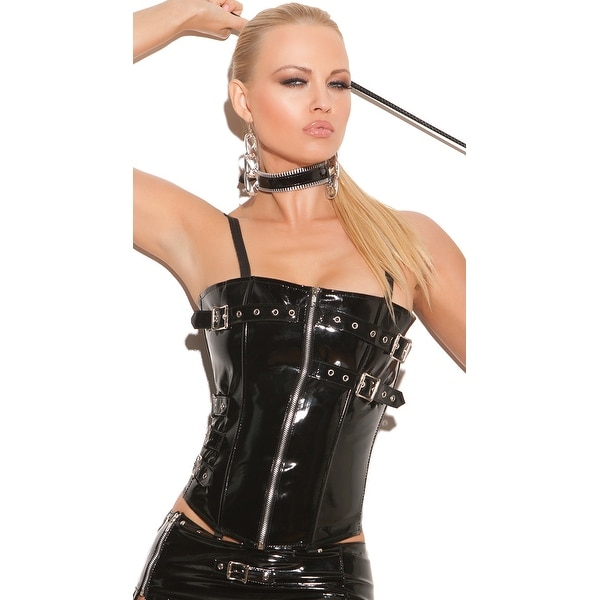 b52417b23 Shop Naughty Girl Vinyl Corset With Garters