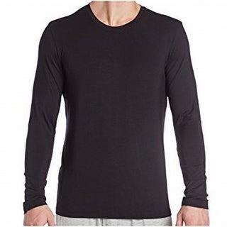 Hugo Boss NEW Solid Black Mens Size XL Slub-Knit Crewneck T-Shirt