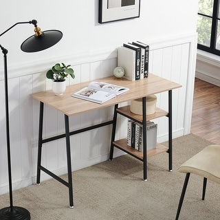 Link to Computer Storage Office Computer Writing Desk with Removable 2 Tier Shelves Similar Items in Computer Desks
