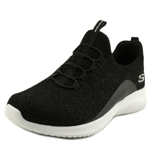 Skechers Ultra Flex Women  Round Toe Canvas Black Sneakers