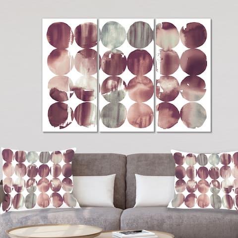 Designart 'Plum Dots minimal geometric II' Transitional Canvas Wall Art