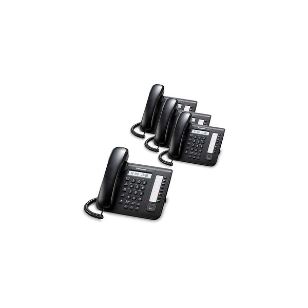 Panasonic KX-DT521-B (4 Pack) 8 Button 1-line Digital Telephone