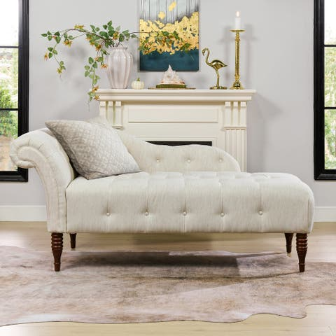Gracewood Hollow Toretto Right Arm Facing Tufted Chaise Lounge Bench