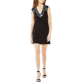 BCBG Max Azria Womens Dominica Casual Dress Embellished Sleeveless