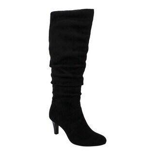 Rialto Women's Clayton Slouch Boot Black Suedette
