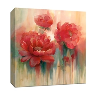 """PTM Images 9-147061  PTM Canvas Collection 12"""" x 12"""" - """"Arbor Red II"""" Giclee Flowers Art Print on Canvas"""