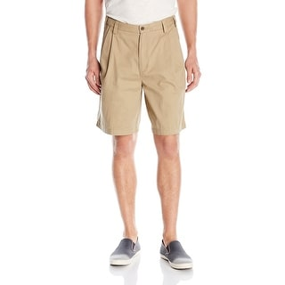Geoffrey Beene NEW Beige Mens Size 33 Pleated Khakis Chinos Shorts