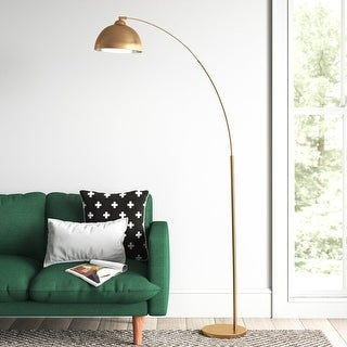 Link to Archiology 79-inch Arch Floor Lamps With Plated Shade Similar Items in Floor Lamps