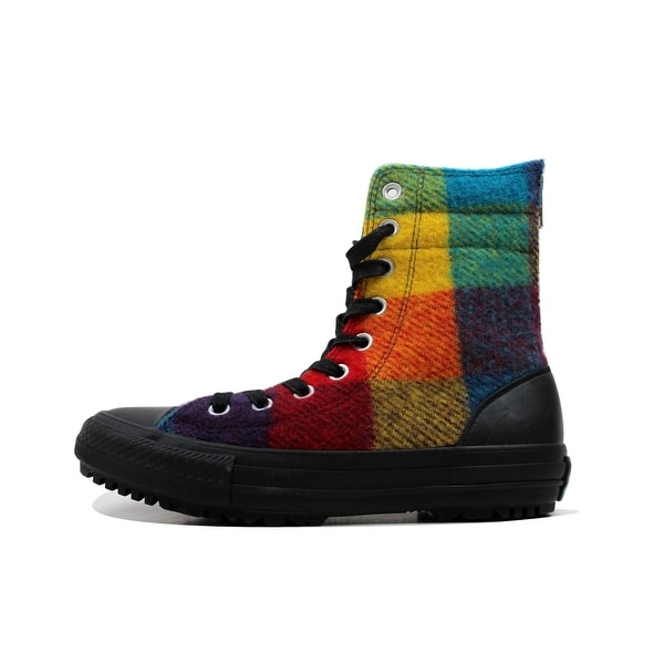 0719a19b12bf88 Converse Women  x27 s Chuck Taylor Hi Rise Boot Yellow Bird Wool Multi Color