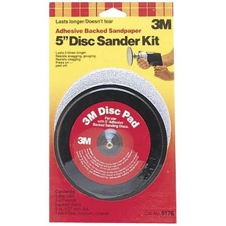 3M 9176NA Adhesive Disc Sanding Kit Disc Coarse, Fine, Medium 5""