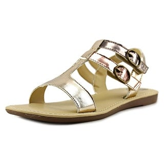 Stride Rite Aria Youth Open Toe Synthetic Gold Sandals