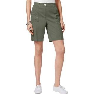 Karen Scott Womens Casual Shorts Elastic Waist Comfort Waist - 14