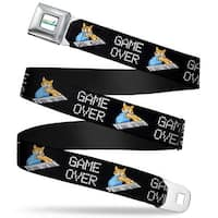 Keyboard Cat Logo White Full Color Keyboard Cat Cartoon Game Over Webbing Seatbelt Belt
