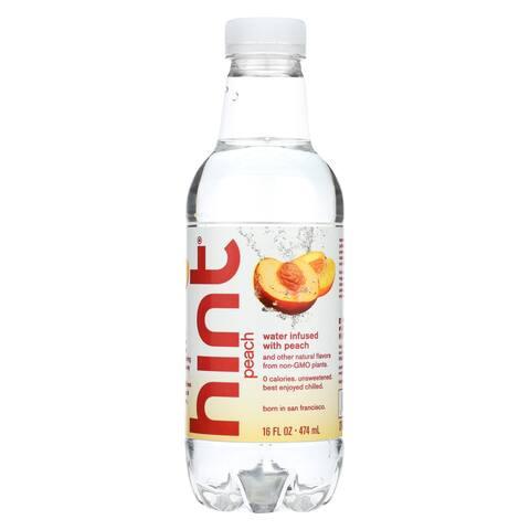 Hint Peach Water - Peach - Case of 12 - 16 Fl oz.