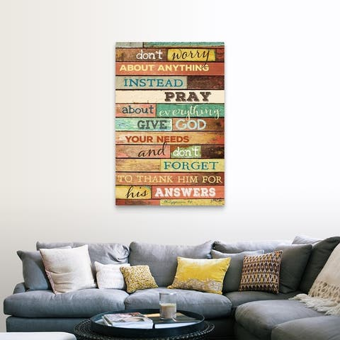 """""""Don't Worry"""" Canvas Wall Art"""