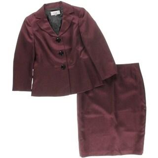 Le Suit Womens Prague 2PC Shimmer Skirt Suit - 6