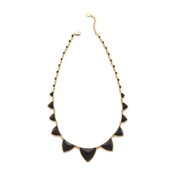 House Of Harlow 1960 Womens Necklace Gold Plated Pyramid Station