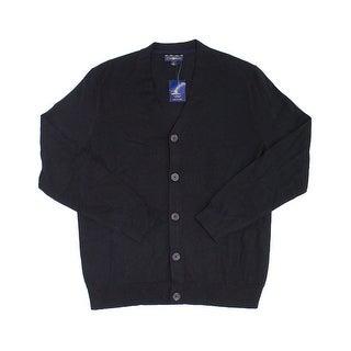 Club Room NEW Black Mens Size Medium M Cardigan Longsleeve Sweater