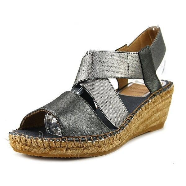 Vidorreta Love Women Open Toe Synthetic Gray Wedge Sandal