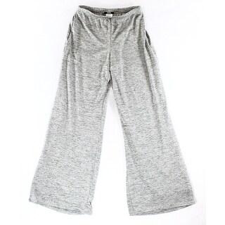 MSK NEW Silver Women's Size Large L Shimmer Glitter Wide Dress Pants