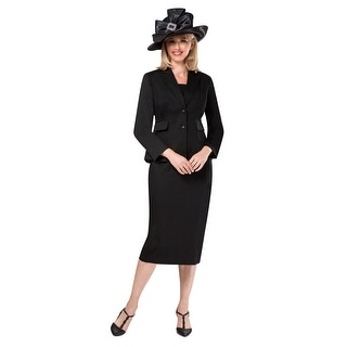 Link to Giovanna Signature Women's 2-pc Black Tweed Fabric Skirt Suit Similar Items in Suits & Suit Separates