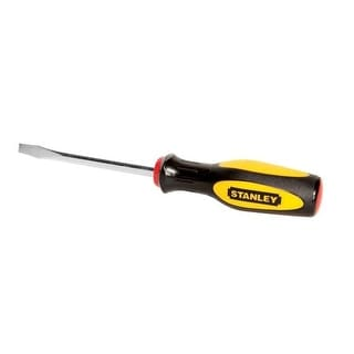 "Stanley 60-004 Standard Tip Slotted Screwdriver, 1/4"" x 4"""
