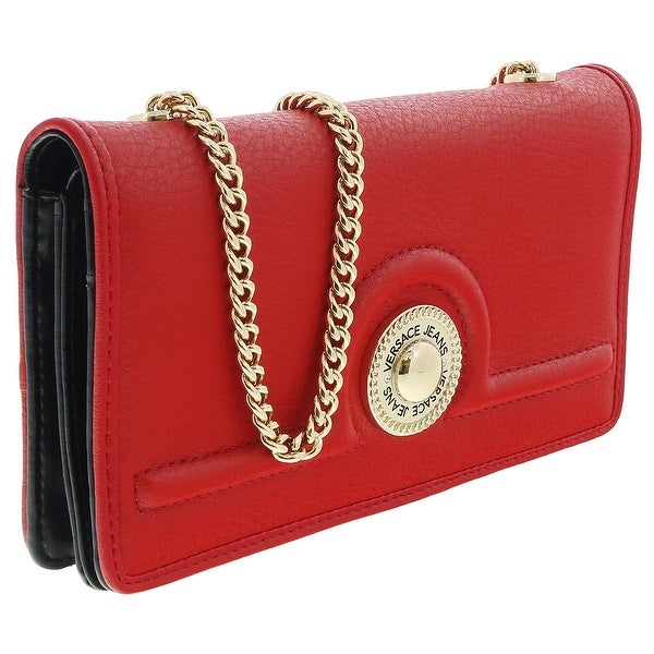 Versace EE3VRBPL2 Red Wallet on Chain - 7.5-4.5-1