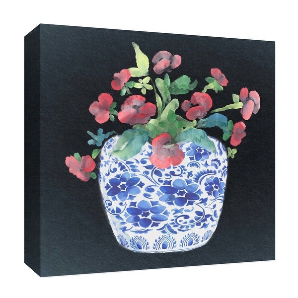 """PTM Images 9-126901 PTM Canvas Collection 12"""" x 12"""" - """"Vintage Flower"""" Giclee Flowers Art Print on Canvas"""
