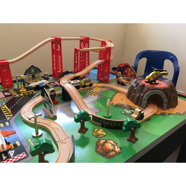 Shop KidKraft Airport Express Train Set And Table   Free Shipping Today    Overstock.com   9192894