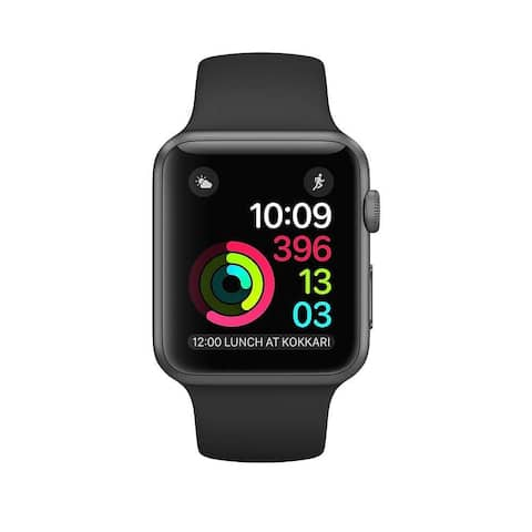 Apple Watch Series 2 42mm Space Gray Case & Black Band (Refurbished) - Space Gray