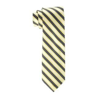 Calvin Klein NEW Yellow Blue Mens One Size Striped Neck Tie Silk
