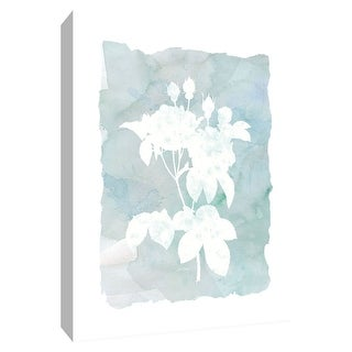 """PTM Images 9-148555  PTM Canvas Collection 10"""" x 8"""" - """"Silhouette Botanical II"""" Giclee Flowers Art Print on Canvas"""