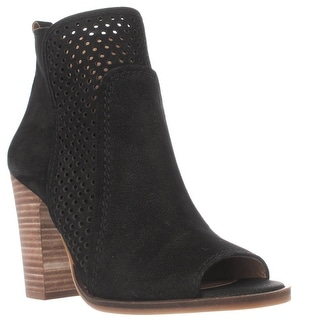 Lucky Brand Lakmeh Peep Toe Ankle Booties - Black