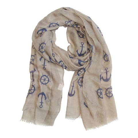 Tickled Pink Lightweight Anchors Scarf