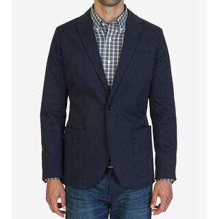 Nautica NEW Navy Blue Mens Size Medium M Two Button Sports Coat