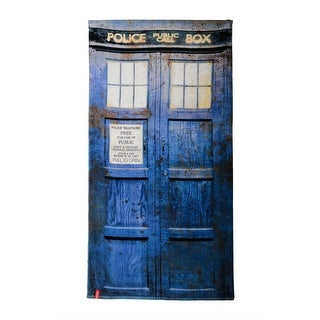 Doctor Who Tardis Distressed Beach Towel