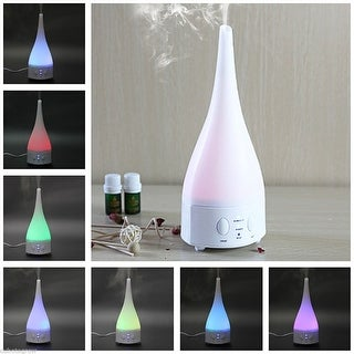 Essential Oil Aromatherapy Diffuser 7 Changing LED Light Ultrasonic Humidifier - White