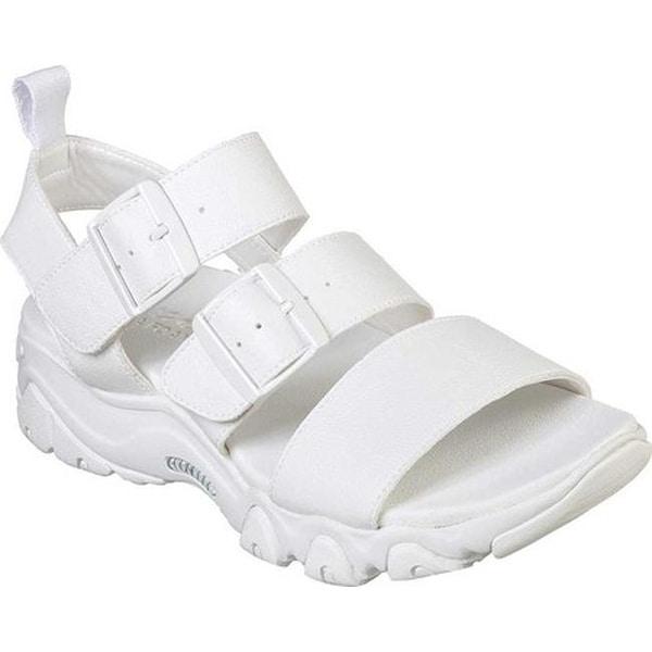35ea9cc85 Shop Skechers Women s D Lites 2.0 Cool Cosmos Strappy Sandal White ...