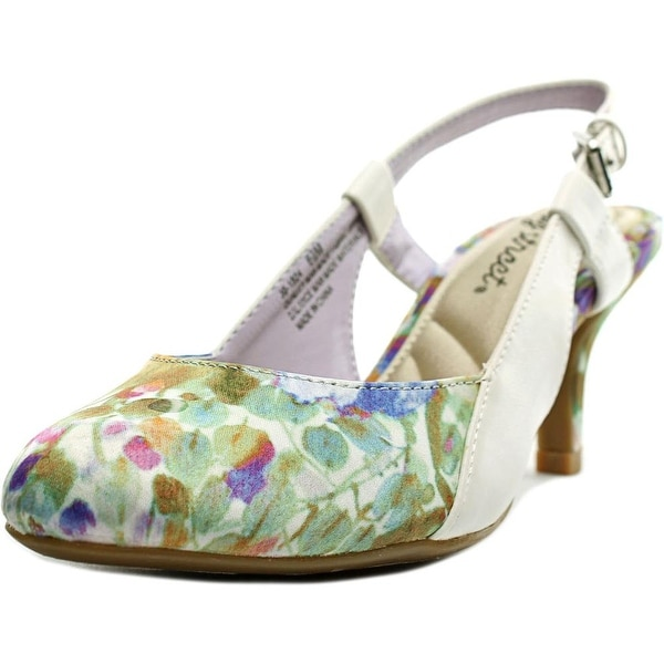 Easy Street Kyla Women Round Toe Synthetic Multi Color Slingback Heel