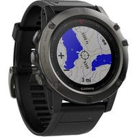 Garmin fenix 5X Sapphire Edition Multi-Sport Training GPS Watch (Slate Gray, Black Band)