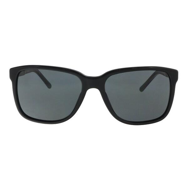 e5b7f807ca3 Shop Burberry BE4181 300187 Black Rectangle Sunglasses - 58-17-140 ...