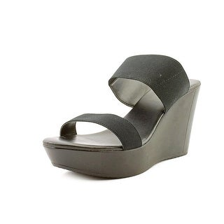 Charles By Charles David Reese Open Toe Canvas Wedge Heel