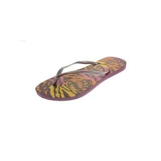 Havaianas Womens Animal Flip-Flops Sandals Casual