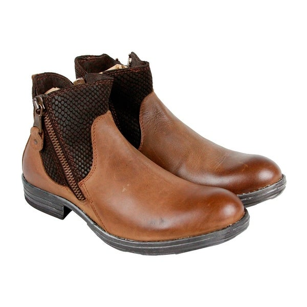 GBX Tacks Mens Brown Leather Casual Dress Slip On Boots Shoes