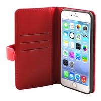 Cell Phone Faux Leather Zippered Wallet Magnetic Case Red for iphone 7 Plus