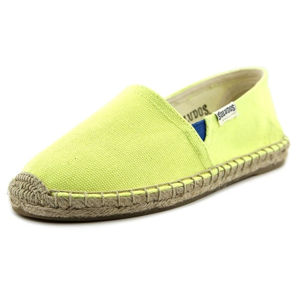 Soludos Original Espadrille Youth  Round Toe Canvas Yellow Espadrille