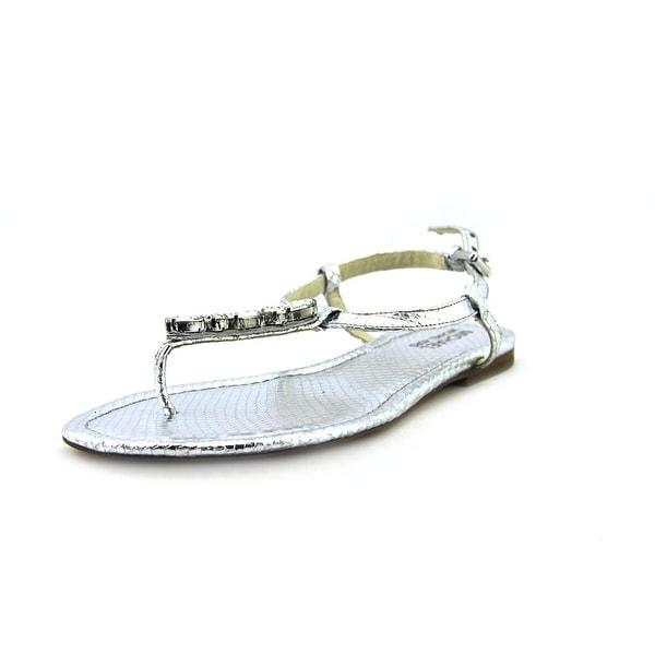 d021a5ff6 Shop Michael Michael Kors Jayden Flat Silver Sandals - Ships To ...