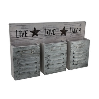 Shabby Finish Live Love Laugh 3 Pocket Wall Organizer