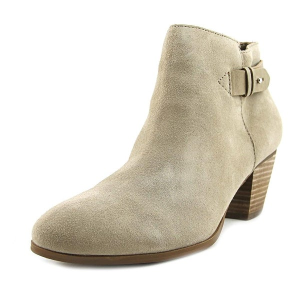 Guess Geora Women Round Toe Suede Ivory Bootie