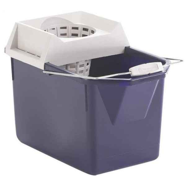 Rubbermaid 619400STL Mop Bucket With Wringer Combo, 15 Quart
